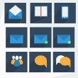 Set of flat education icons for design - vector icons — Stock Photo