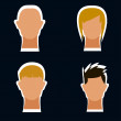 Icon hair style set — Stock Photo