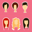 Hairstyle icon — Stock Photo