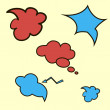 Comic Speech Bubbles — Stock Photo