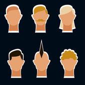 Hair style set — Stock Photo