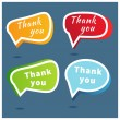 Thank you - grateful bubbles. Vector. — Stock Photo