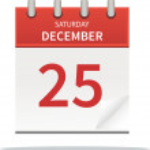 25. december calendar — Stock Photo #33638619