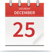 25. december calendar — Stockfoto