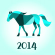 Horse from abstract geometric shape vector background. 2014 Happy new year. — Stock Photo #33643925