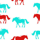 Horses seamless pattern. Vector Illustration, eps10 — Foto Stock