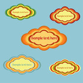 Retro speech bubbles set.Vector — Stockfoto