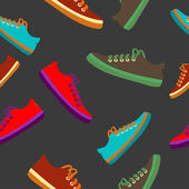 Colourful sneakers on black background. Vector available — Stockfoto