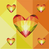 Abstract heart-shaped banner with copyspace — Stock Photo