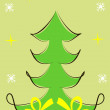 Vector illustration of Christmas tree — Stock Photo