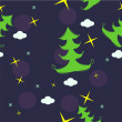 Vector seamless pattern of christmas tree — Stock Photo