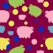 Seamless pattern with cute pigs — Stock Photo