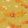 Seamless pattern with autumn leaves. Vector illustration. — Stock Photo