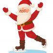 Cartoon skating Santa Claus isolated — Stock Photo #34386299