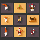 Christmas icons set as labels — Stock Photo