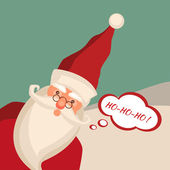 Santa Claus card, vector , singing ho ho ho — Foto Stock
