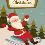 Santa Claus in his sleigh — Stock Photo #34649393