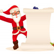 Santa claus banner — Stock Photo