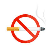 The sign no smoking. Illustration on white background — Stock Photo