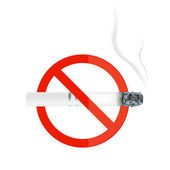 Illustration of no smoking sign with cigarette — Stock Photo
