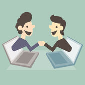 Business shaking hand — Stock Photo