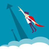 Super held - zakenman. vectorillustratie op een achtergrond — Stockfoto