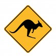 Kangaroo Sign — Stock Photo #35579899