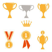 Trophy and awards icons set. — Stock Photo