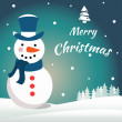 Vector snowman. EPS 10 vector illustration for Christmas design. — Stock Photo #36125505