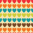 Retro seamless pattern with colorful hearts — Stock Vector #36937229