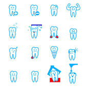 Tooth icons — Stock Vector