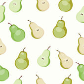 Seamless pattern of ripe pear — Stock Vector