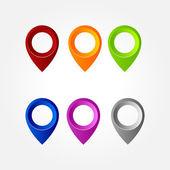 Set of map pointers - Illustration — Wektor stockowy