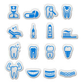 Dental icon (sticker) set (dentist tools) — Stock Vector