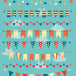Colorful bunting and garlands — Stock Vector #41706569