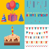 Birthday Party Elements - Vector Illustration — Stock Vector