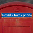 Traditional British phone booth — Stock Photo