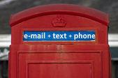 Traditional British phone booth — Stock Photo