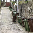 Wheelie bins on English Street — Stock Photo