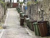 Wheelie bins on English Street — Stock Photo