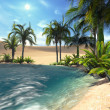 Oasis in desert 1 — Stock Photo #34642795