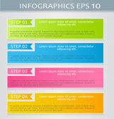 Modern infographics colorful design template with shadow — Stock Vector