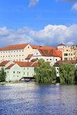 Färgglada sommar medeltida staden písek — Stockfoto