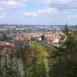 View on spring Prague City above River Vltava, Czech Republic — Stockfoto #32152341