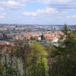 View on spring Prague City above River Vltava, Czech Republic — Stock Photo #32152341