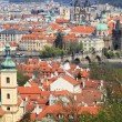View on the spring Prague City above River Vltava, Czech Republic — Stock Photo #32153911