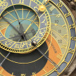 Historical medieval astronomical Clock in Prague on Old Town Hall , Czech Republic — Stock Photo