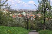 Outono cidade de praga, acima o rio vltava, república checa — Fotografia Stock