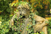Stone Sculpture of the Man from the old Prague Cemetery, Czech Republic — Stock Photo