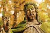 Historic Jesus on the old Prague Cemetery, Czech Republic — Fotografia Stock
